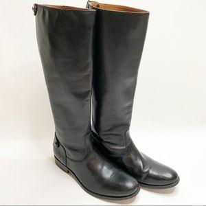 Frye Melissa Button Back Zip Boots Wide Calf 9.5